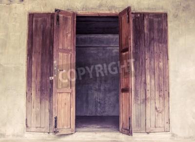 Fototapeta Vintage drewniane drzwi otwarte