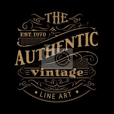 Fototapeta Vintage etykiety zachodniej ręcznie rysowane ramki antyczne typografia wektor