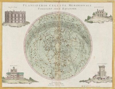 Fototapeta Vintage gwiezdny map