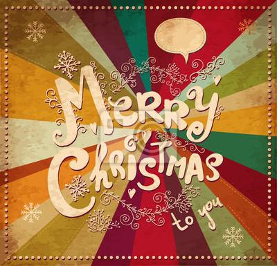 Fototapeta Vintage kartki świąteczne z Mikołajem