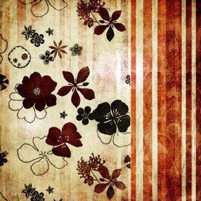 Fototapeta vintage kwiatów tapety