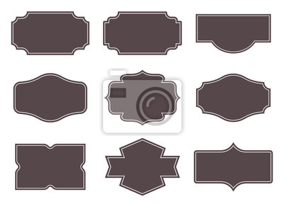 Fototapeta Vintage labels. Retro frames set. Vector