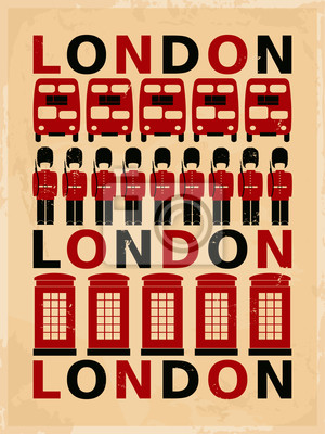 Fototapeta Vintage London Poster