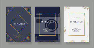Fototapeta Vintage luxury vector invitation card