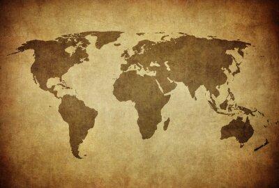 Fototapeta Vintage mapie świata.