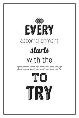 Fototapeta Vintage motivational poster