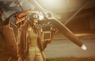 Fototapeta Vintage pilot samolotu
