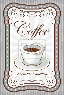 Vintage plakat kawy. ilustracji wektorowych