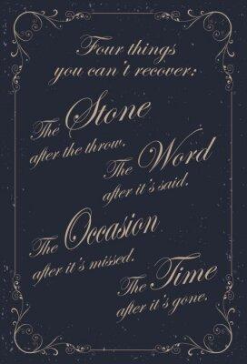 Fototapeta Vintage plakaty z cytatami motywacyjnymi