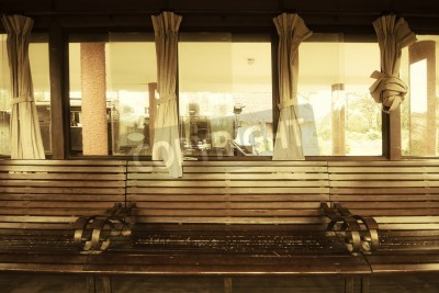 Fototapeta Vintage Pociąg Salon Wewnątrz