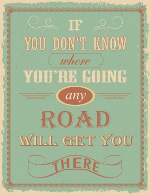 Fototapeta Vintage poster with motivation quote