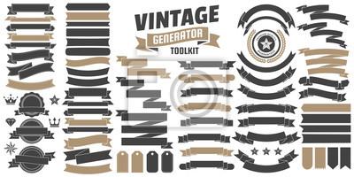Fototapeta Vintage Retro Logo wektor na baner