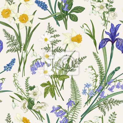 Vintage seamless floral pattern.
