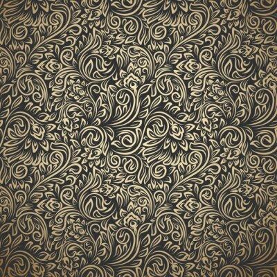 Fototapeta Vintage seamless pattern with curls