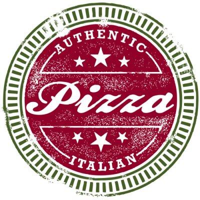 Fototapeta Vintage Stamp Pizza