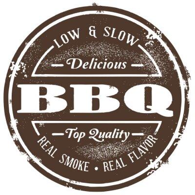 Fototapeta Vintage Style BBQ Stamp