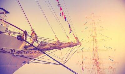 Fototapeta Vintage tle kontrasty żeglarstwo.