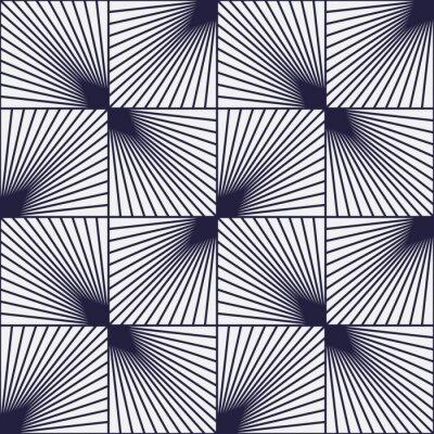 Fototapeta Vintage tło, kwadraty z linii, złudzenie optyczne, bez szwu wzór
