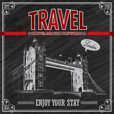 Fototapeta Vintage wakacje plakat Londyn