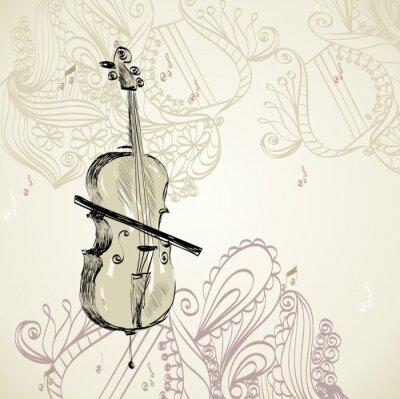 Fototapeta violoncello