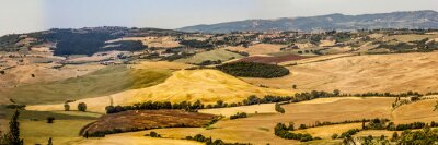 Fototapeta vista scorcio colline pienza campagnia