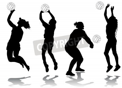Fototapeta volleyball player vector