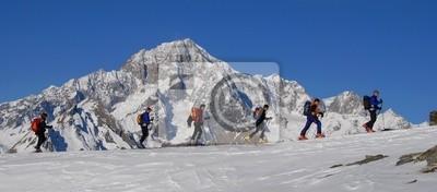 Fototapeta w Fila con il Monte Bianco