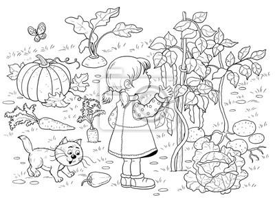 двери картинки раскраски на тему огород любому