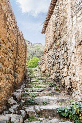 Fototapeta Wadi Bani Habib schody