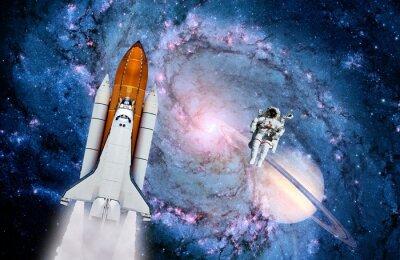 Fototapeta Wahadłowiec kosmiczny Astronauta Rocket