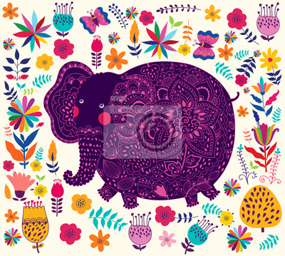 Fototapeta Wakacje z słonia wzór