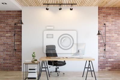 Fototapeta wall mock up interior. Wall art. 3d rendering, 3d illustration