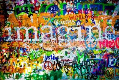 Fototapeta Wall of John Lennon (Praga ) - Wyobraź sobie ( Toma 1)