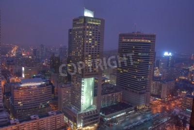 Fototapeta Warsaw City, Polska - 16 lutego 2013 - Wieżowce w Warszawie