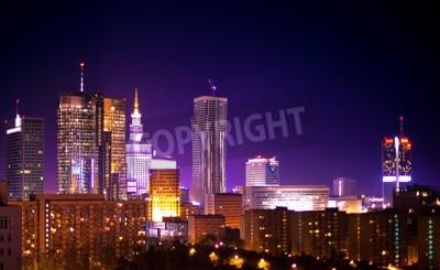 Fototapeta Warsaw Poland city at night