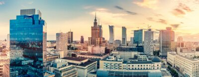 Fototapeta Warsaw, Poland panorama