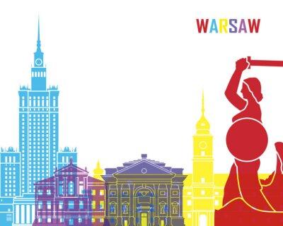 Fototapeta Warsaw skyline pop