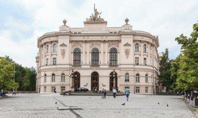 Fototapeta Warszawa, Budynek Główny Politechniki Warszawskiej - wybudowany w 1901 Roku. Architektura budynku nawiązuje zrobić włoskiego renesansu i baroku