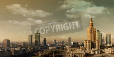 Fototapeta Warszawa panorama