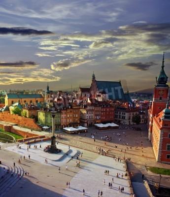 Fototapeta Warszawa Plac Zamkowy i słońca