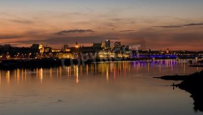 Fototapeta Warszawa Polska września 2014: Wisła i panorama Warszawy