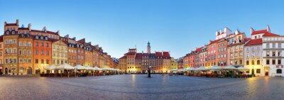 Fototapeta Warszawa, Rynek Starego Miasta w lecie, w Polsce, nikt
