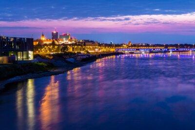 Fototapeta Warszawa - Wisła w nocy