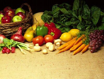 Fototapeta Warzywa na konopie