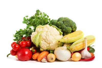Fototapeta warzywa samodzielnie na białym tle