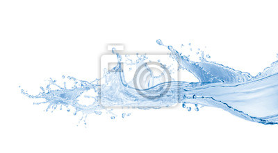 Fototapeta  water splash isolated on white background, water splash