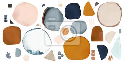 Fototapeta watercolor Illustration,  isolated on white background. Abstract modern  print. logo
