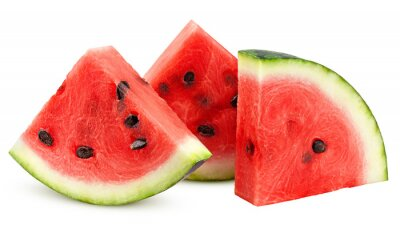 Fototapeta watermelon isolated on white background, clipping path, full depth of field