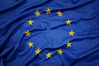 Fototapeta waving colorful national flag of european union.