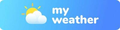 Fototapeta Weather app logo
